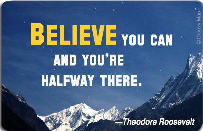 Lifestyle: Believe you can and you're halfway there, 8859194807443