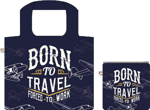 Shopping Bag:Born To Travel Forced To work, ISBN, 8859194818203