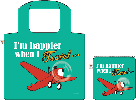 Shopping Bag:I'm Happier when I Travel, ISBN, 8859194818210