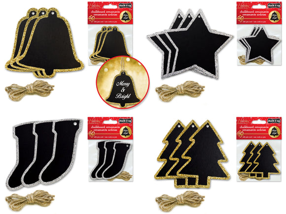Chalkboard Ornaments Pack of 3
