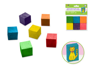 1in (25mm)Wood Cubes 6/pk