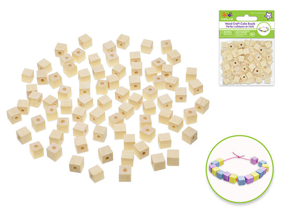 8mm Cube Beads 80/pk Natural