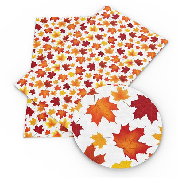 Maple Leaves Faux Leather