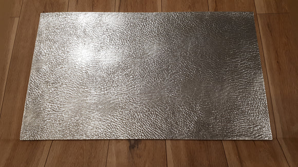 Patterned Silver  Faux Leather