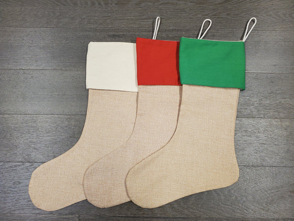 Christmas Stocking - Cotton Linen