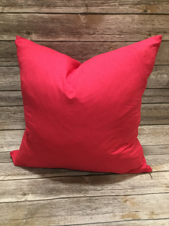 Polyester Pillow Cover- Red