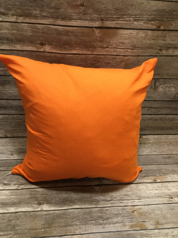 Polyester Pillow Cover - Orange