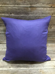 Polyester Pillow Cover - Purple