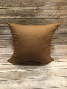 Polyester Pillow Cover - Brown