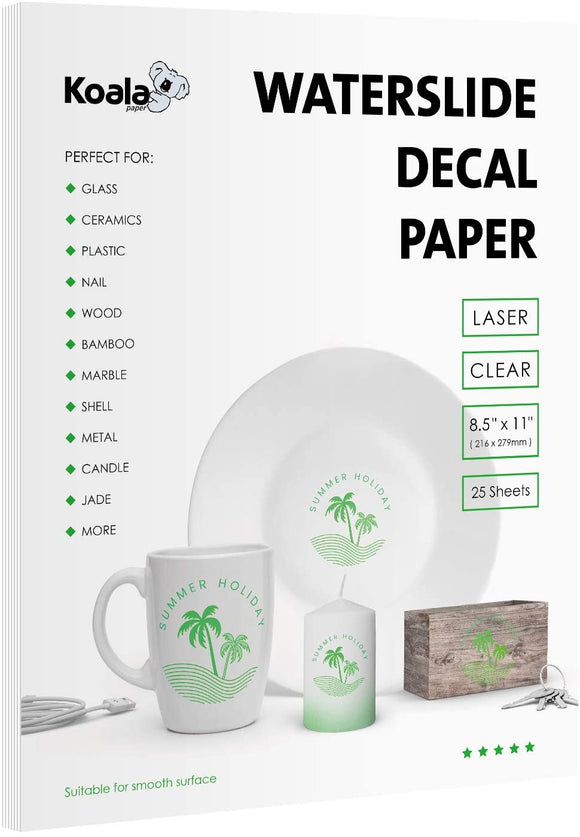 Waterslide Decal Paper for Laser Printers Clear