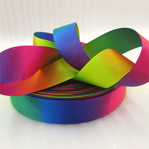 "1"" Dbl Sided Rainbow Gradient Ribbon"