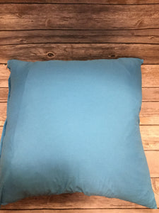 Polyester Pillow Cover- Light Blue