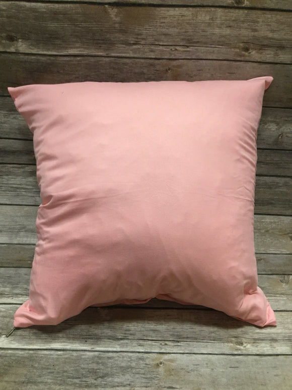 Polyester Pillow Cover- Light Pink