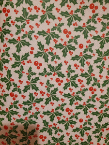 Holly Berries Faux Leather