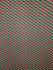 Red and Green Twist Faux Leather
