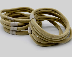 Nylon Spandex Headband  with Loop for Bow - Nude