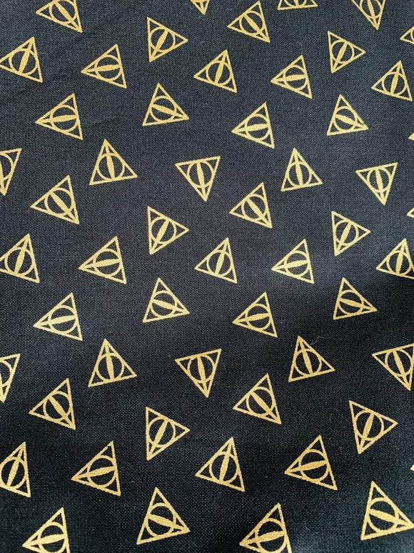 Deathly Hallows 100% Cotton with Metallic Fabric