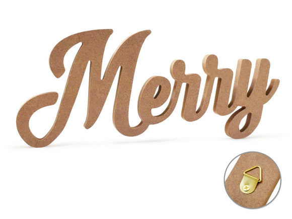 Merry  or Christmas MDF sign 12
