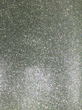 Smooth Finish Glitter Pearl Faux Leather SIlver