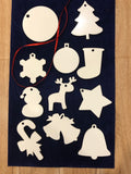 Double Sided white MDF ornaments
