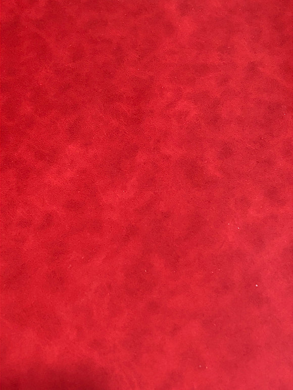 Red Marbled Faux Leather
