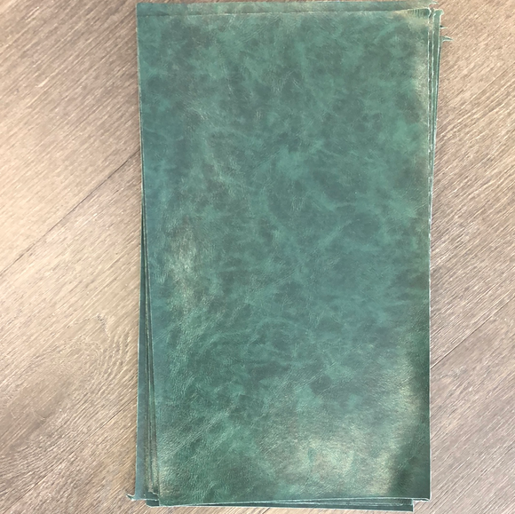 Textured Glossy Faux Leather - Dark Green