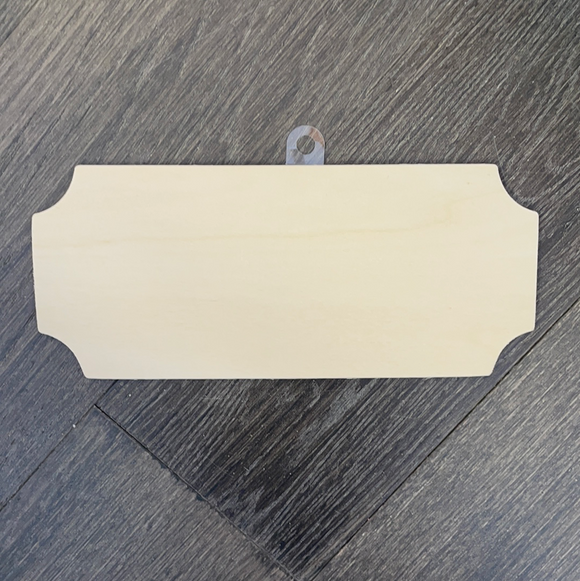 8.5 inch Rectangle Cut Corners Wood Sign