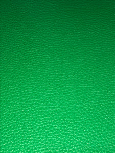 Faux Leather Litchi Solid green - Stiff large litchi