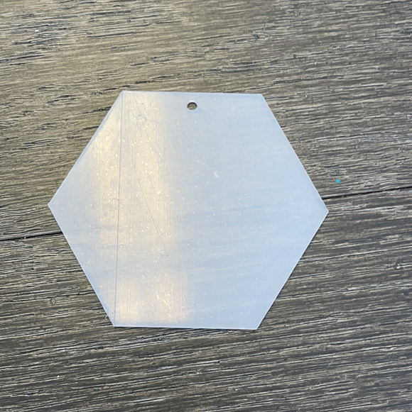 Hexagon Acrylic w Hole