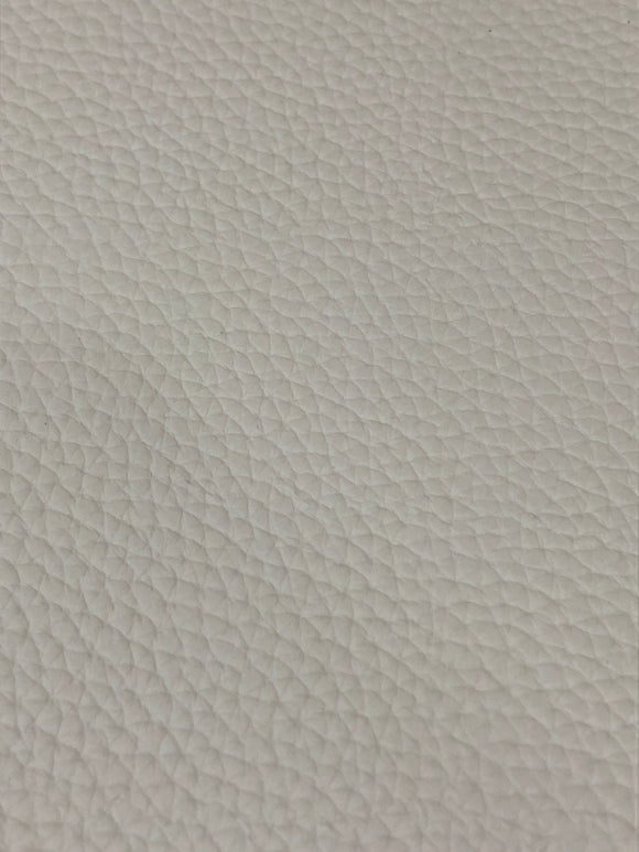 White Large Litchi Faux leather
