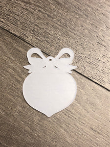Ornament with Bow Acrylic with Hole