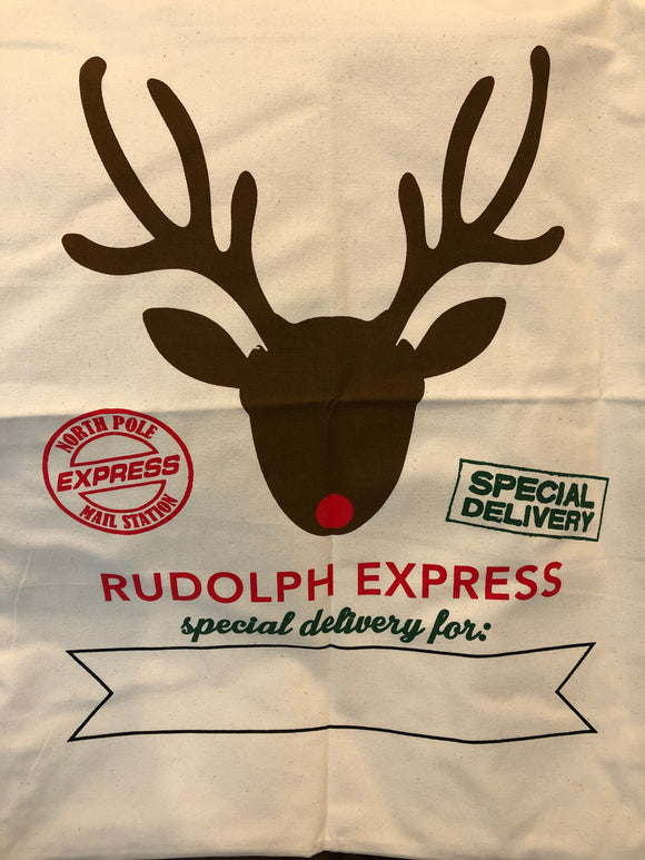 Santa Sacks - Natural - Reindeer Head