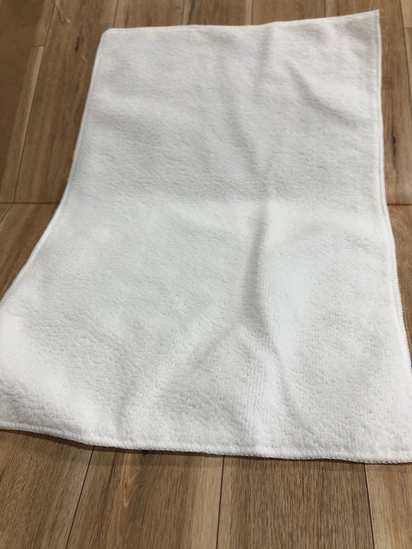 White Kitchen/Hand/Gym Towel  Sublimation