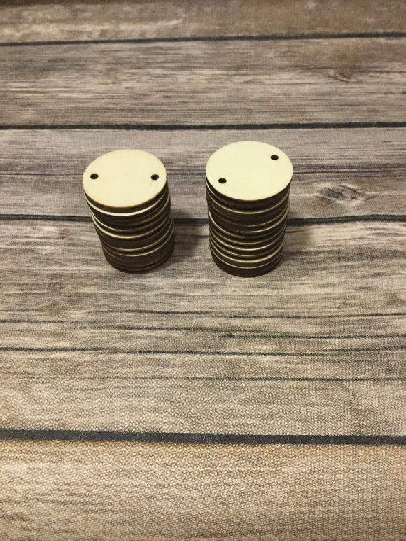 Wood Disks - 25mm -Birthday  Board
