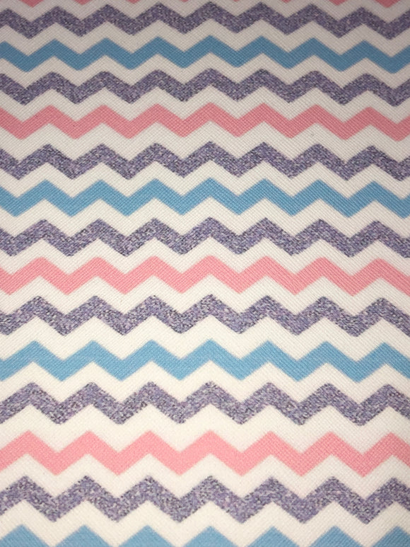 Pastel Chevrons Faux Leather