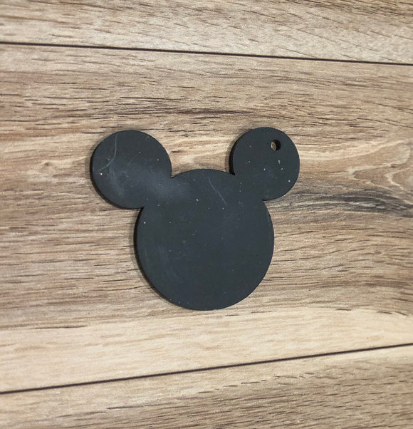 50mm Acrylic Black Mouse Head