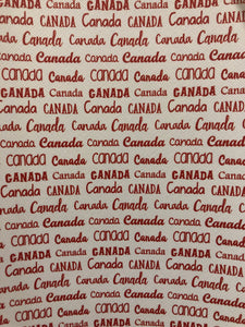 Canada words Faux Leather