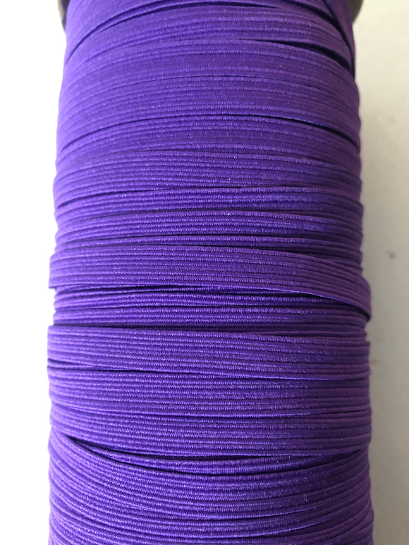 "1/4 "" (6mm) elastic  dark purple"