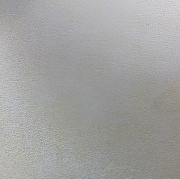 Frosted Sheepskin Pattern Faux leather - Rice White