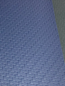 Woven Look Faux Leather  Navy