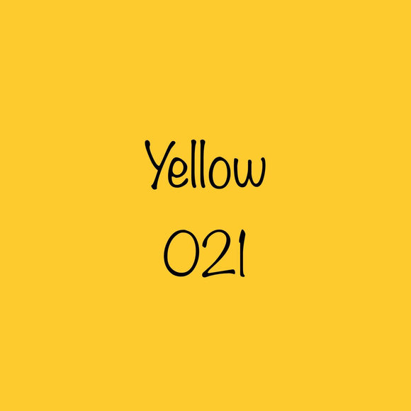 Oracal 651 Permanent Vinyl Yellow (021)