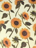 Lg Sunflowers Yellow Background Faux leather