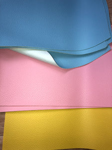 Faux Leather -large litchi - Easter colours