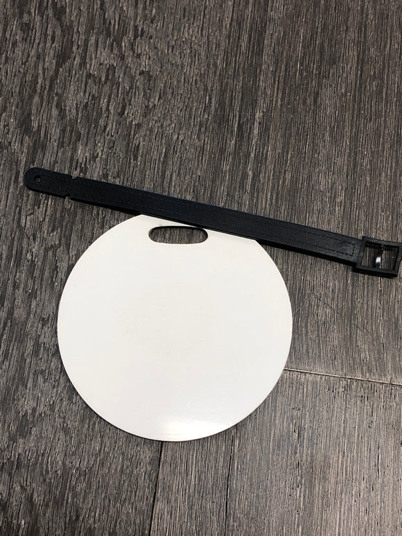 "4"" Round Luggage Tag"