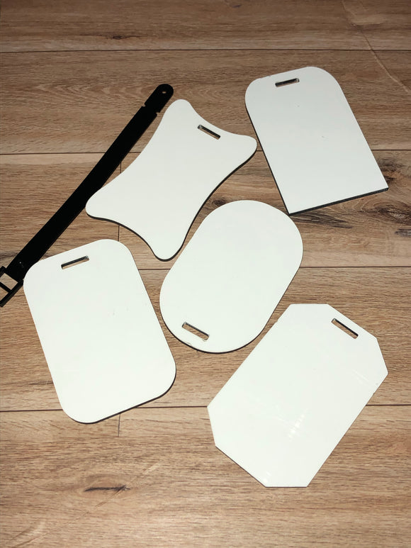 Sublimation Luggage Tags Double Sided MDF - 5 styles