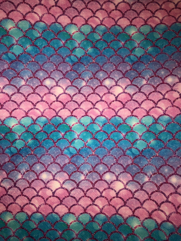 Mermaid Scales Faux Leather - Pinks,purple,blue
