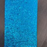 Chunky AQUA Glitter Faux Leather