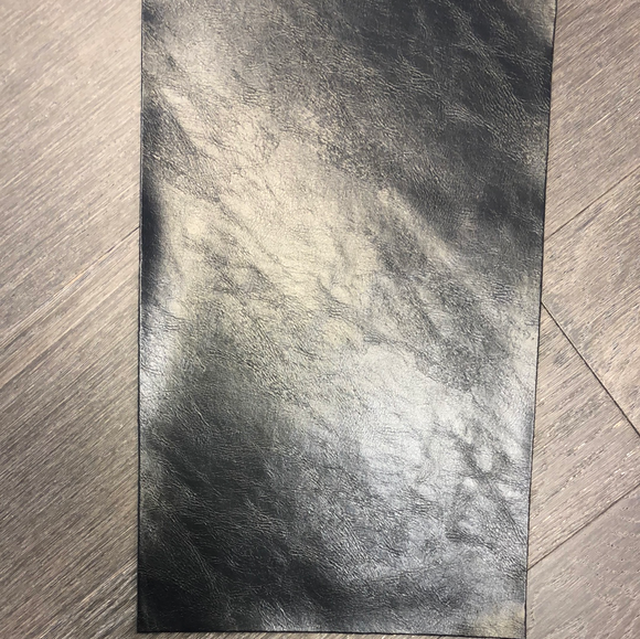 Textured Glossy Faux Leather - Black