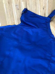 XLong Royal Blue Apron with pockets