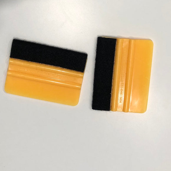 Yellow Squeegee with Felt End
